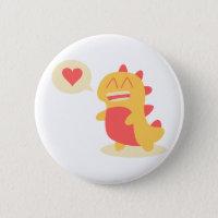 Kawaii smiling Dino talking about love