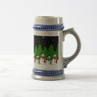 Kawaii Snowman Beer Stein