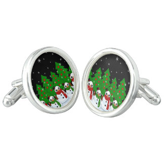 Kawaii Snowman Cufflinks