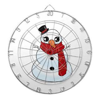 Kawaii Snowman Dartboard