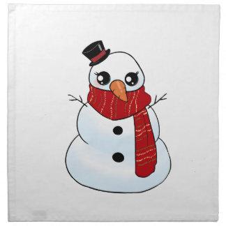 Kawaii Snowman Napkin