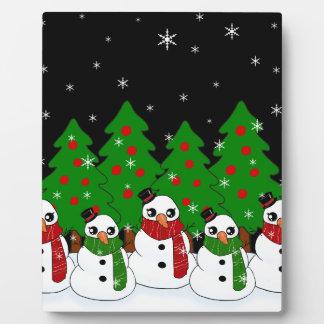 Kawaii Snowman Plaque
