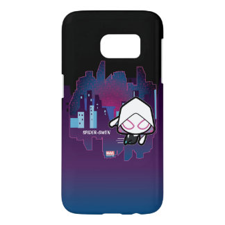 Kawaii Spider-Gwen City Skyline