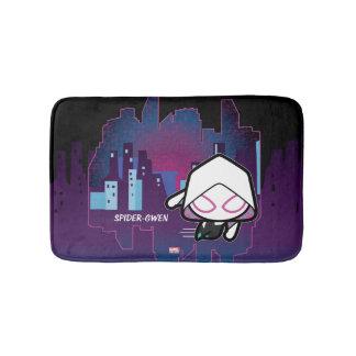 Kawaii Spider-Gwen City Skyline Bath Mat