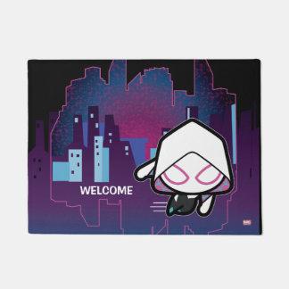 Kawaii Spider-Gwen City Skyline Doormat