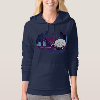 Kawaii Spider-Gwen City Skyline Hoodie