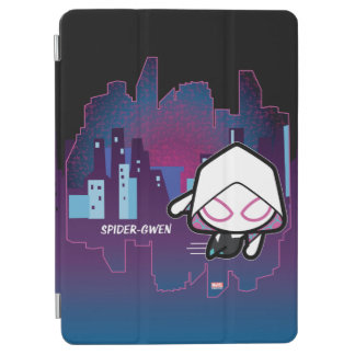 Kawaii Spider-Gwen City Skyline iPad Air Cover