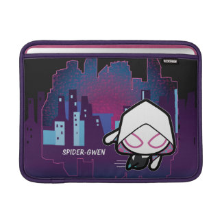 Kawaii Spider-Gwen City Skyline MacBook Sleeve