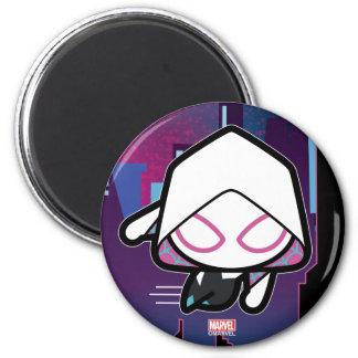 Kawaii Spider-Gwen City Skyline Magnet