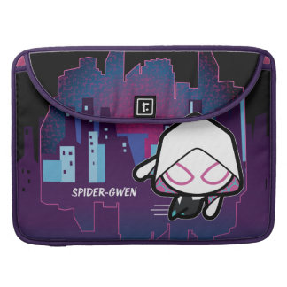 Kawaii Spider-Gwen City Skyline Sleeve For MacBook Pro