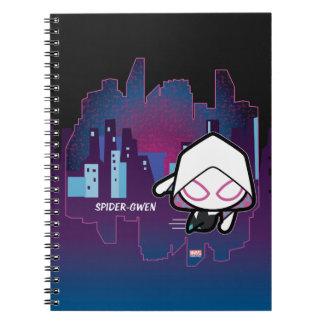 Kawaii Spider-Gwen City Skyline Spiral Notebook
