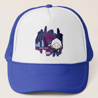 Kawaii Spider-Gwen City Skyline Trucker Hat