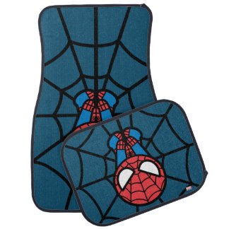 Kawaii Spider-Man Hanging Upside Down Car Mat