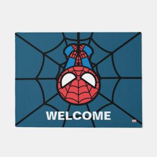 Kawaii Spider-Man Hanging Upside Down Doormat