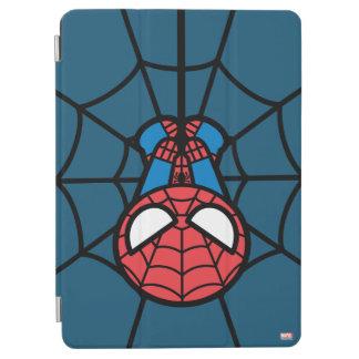 Kawaii Spider-Man Hanging Upside Down iPad Air Cover