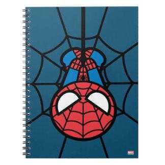Kawaii Spider-Man Hanging Upside Down Notebook