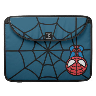 Kawaii Spider-Man Hanging Upside Down Sleeve For MacBooks