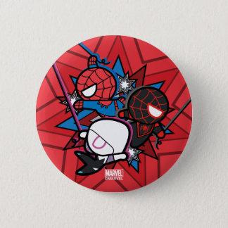 Kawaii Spider-Man, Spider-Gwen, & Miles Morales 6 Cm Round Badge