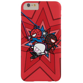Kawaii Spider-Man, Spider-Gwen, & Miles Morales Barely There iPhone 6 Plus Case