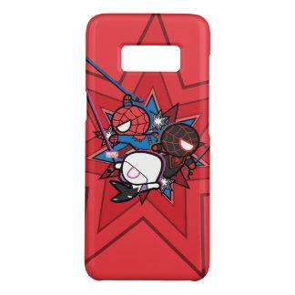Kawaii Spider-Man, Spider-Gwen, & Miles Morales Case-Mate Samsung Galaxy S8 Case