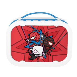Kawaii Spider-Man, Spider-Gwen, & Miles Morales Lunch Box