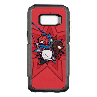Kawaii Spider-Man, Spider-Gwen, & Miles Morales OtterBox Commuter Samsung Galaxy S8+ Case