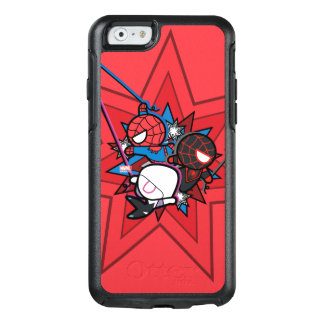 Kawaii Spider-Man, Spider-Gwen, & Miles Morales OtterBox iPhone 6/6s Case