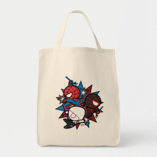 Kawaii Spider-Man, Spider-Gwen, & Miles Morales Tote Bag