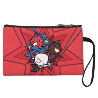 Kawaii Spider-Man, Spider-Gwen, & Miles Morales Wristlet