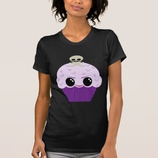 Kawaii Spooky Cupcake Skull Spiders Bats T-Shirt