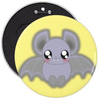 Kawaii spooly bat 6 cm round badge
