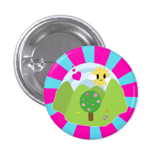 Kawaii Spring Day Button