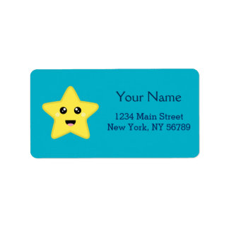 Kawaii Star Address Label