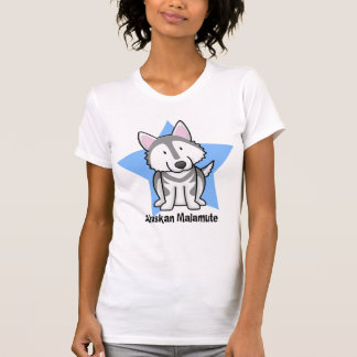 Kawaii Star Alaskan Malamute Ladies T-Shirt