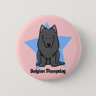 Kawaii Star Belgian Sheepdog 6 Cm Round Badge