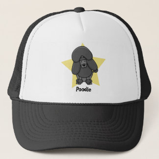 Kawaii Star Black Poodle Trucker Hat