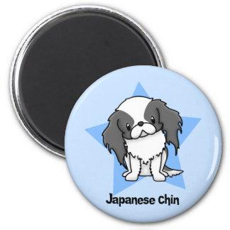 Kawaii Star Blk Japanese Chin Magnet