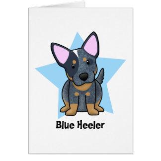 Kawaii Star Blue Heeler Card