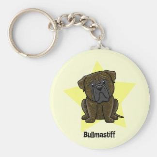 Kawaii Star Brindle Bullmastiff Key Ring