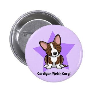 Kawaii Star Brindle Cardigan Welsh Corgi 6 Cm Round Badge