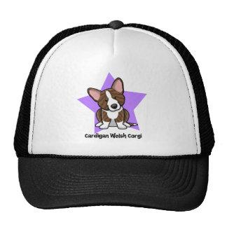 Kawaii Star Brindle Cardigan Welsh Corgi Mesh Hats