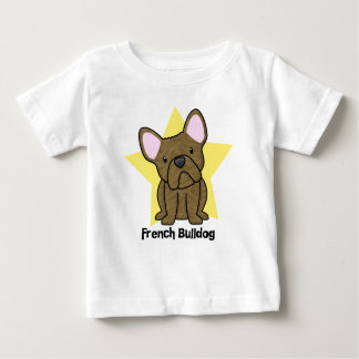 Kawaii Star Brindle French Bulldog Baby's Baby T-Shirt