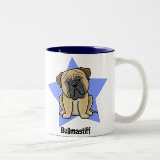 Kawaii Star Bullmastiff Two-Tone Coffee Mug