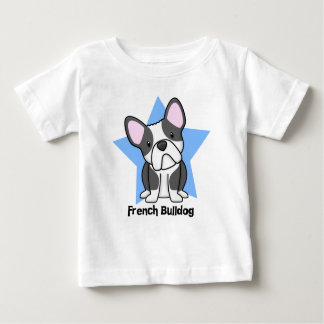 Kawaii Star BW French Bulldog Baby's Baby T-Shirt