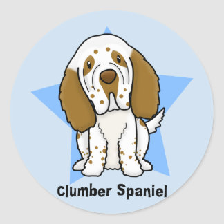 Kawaii Star Clumber Spaniel Stickers