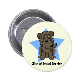 Kawaii Star Glen of Imaal Terrier Buttons