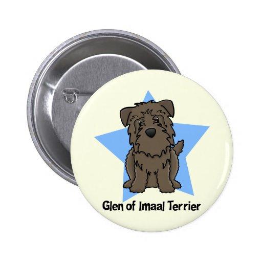Kawaii Star Glen of Imaal Terrier Buttons
