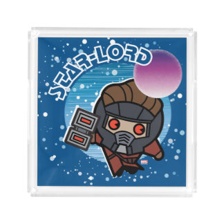 Kawaii Star-Lord In Space Acrylic Tray