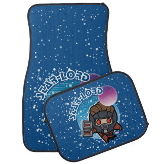Kawaii Star-Lord In Space Car Mat