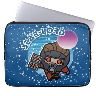 Kawaii Star-Lord In Space Laptop Sleeve